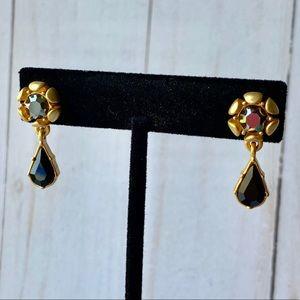 Jewelry - Gold & Black Earrings